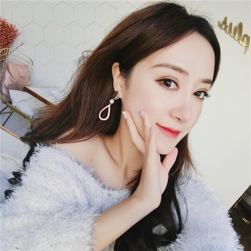 网红气质个性百搭耳饰几何耳环女耳钉韩国925纯银针长款耳坠
