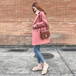 2018 mới của Hàn Quốc phiên bản của áo len nữ phần dài lỏng mỏng chống mùa áo khoác nữ Hepburn gió áo len