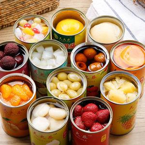 天火乐新鲜水果罐头混合装每罐425克黄桃罐头菠萝梨什锦草莓杨梅
