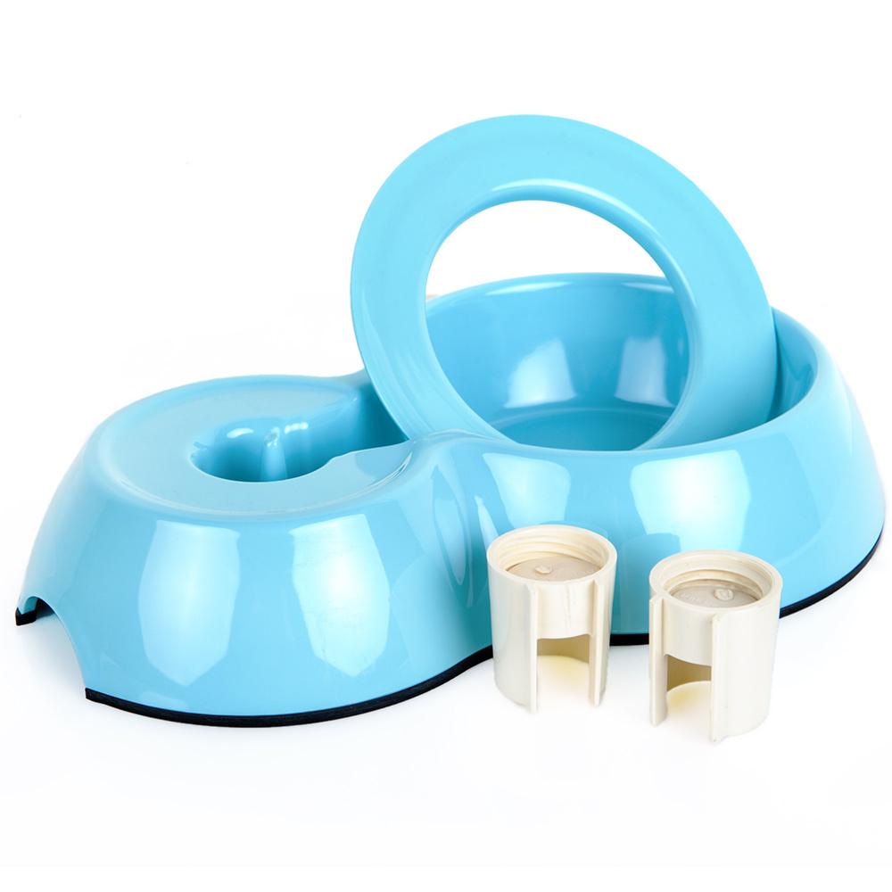 休普饮水底座狗碗 泰迪狗狗食盆水碗饮水器水盆饮水机 宠物用品