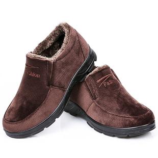 老北京布鞋冬季中老年人男士加绒棉鞋