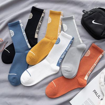 篮球袜子男ins潮牌中筒纯棉夏季薄款长筒袜男士运动高帮中帮高筒