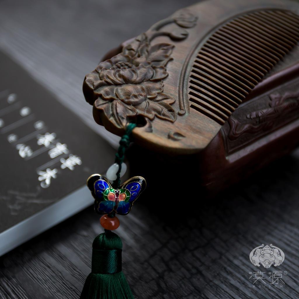 绿檀木梳子礼盒,母亲节礼物送女友礼物