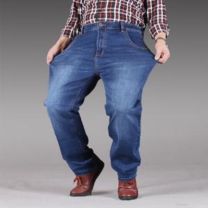 Lỏng mùa hè phần mỏng kích thước lớn quần short denim nam cộng với phân bón XL chất béo đàn hồi chất béo năm điểm quần ngựa