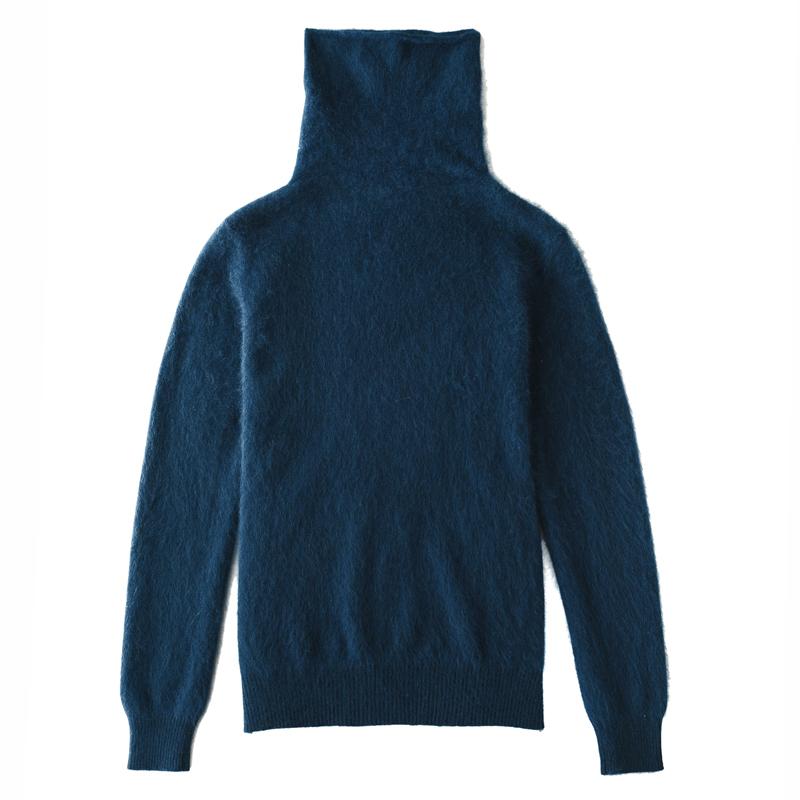 Mùa thu và mùa đông áo len mới của phụ nữ đầu lỏng ngắn cơ sở màu rắn áo len đống đống cổ áo dài tay áo slim velvet áo sơ mi