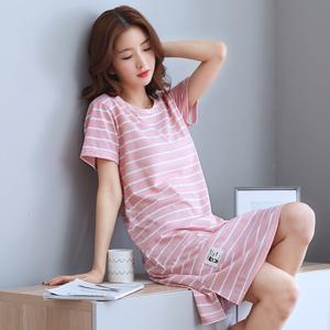 Đặc biệt hàng ngày mùa hè Hàn Quốc nightdress ladies bông ngắn tay áo XL vest đồ ngủ mùa hè không tay dịch vụ nhà