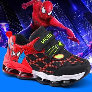 兒童蜘蛛俠童鞋男童鞋子中大童運動鞋休閒鞋