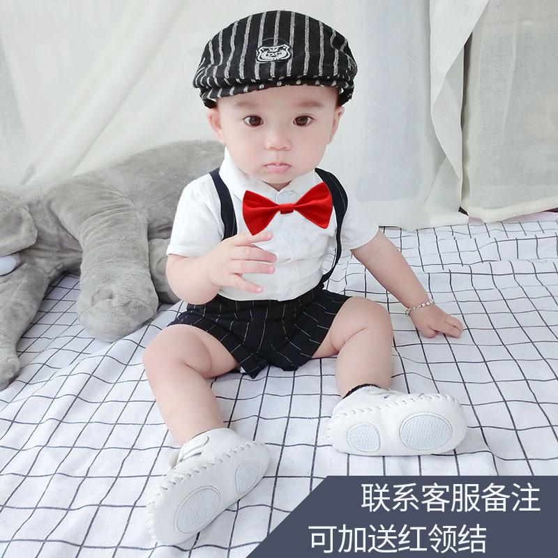 帅气宝宝衣服秋季周岁礼服男童小男孩童装洋气绅士套装婴儿秋装潮