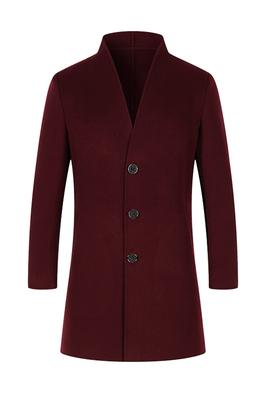 Chống mùa đặc biệt bán hàng len tinh khiết khâu tay hai mặt áo trong phần dài của Hàn Quốc phiên bản của áo khoác mỏng nam áo gió nam Áo len