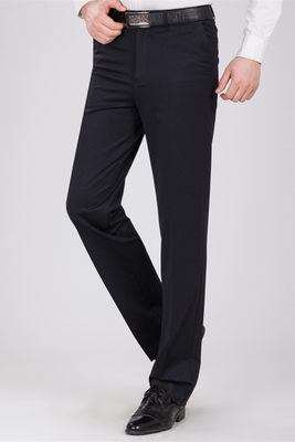 Mùa xuân và mùa hè cao cấp đàn hồi lỏng eo cao thẳng kinh doanh bình thường quần phù hợp với đàn hồi quần ăn mặc kích thước lớn quần nam mỏng