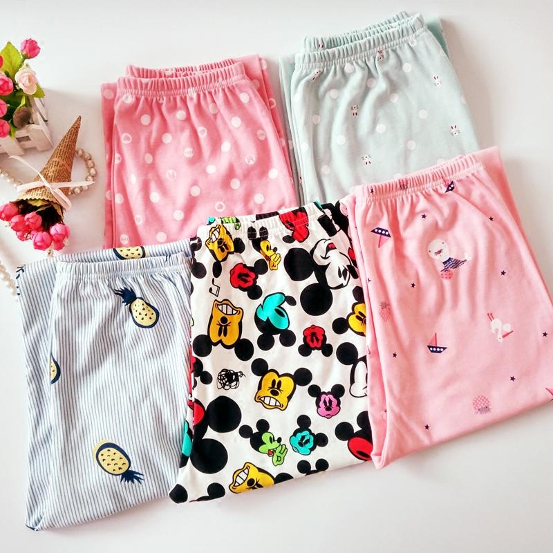Đặc biệt cung cấp mùa xuân và mùa hè sống quần giản dị nhà cha mẹ quần thẳng ngủ quần phụ nữ quần bông mỏng phần kích thước lớn chín quần