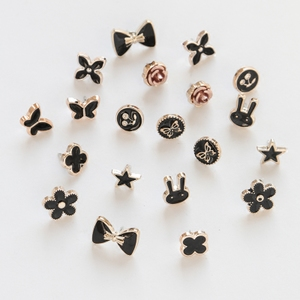 10 Túi Hoang Dã Four-leaf clover trâm nữ tính khí áo len Cardigan pin thanh lịch rhinestone flower pin trâm