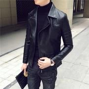 Mùa thu và mùa đông xu hướng mới Slim ngắn ve áo áo khoác da nam Hàn Quốc thanh niên sinh viên áo khoác giản dị áo sơ mi