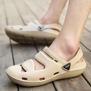 夏季男女沙滩洞洞鞋凉鞋浴室学生两用拖鞋