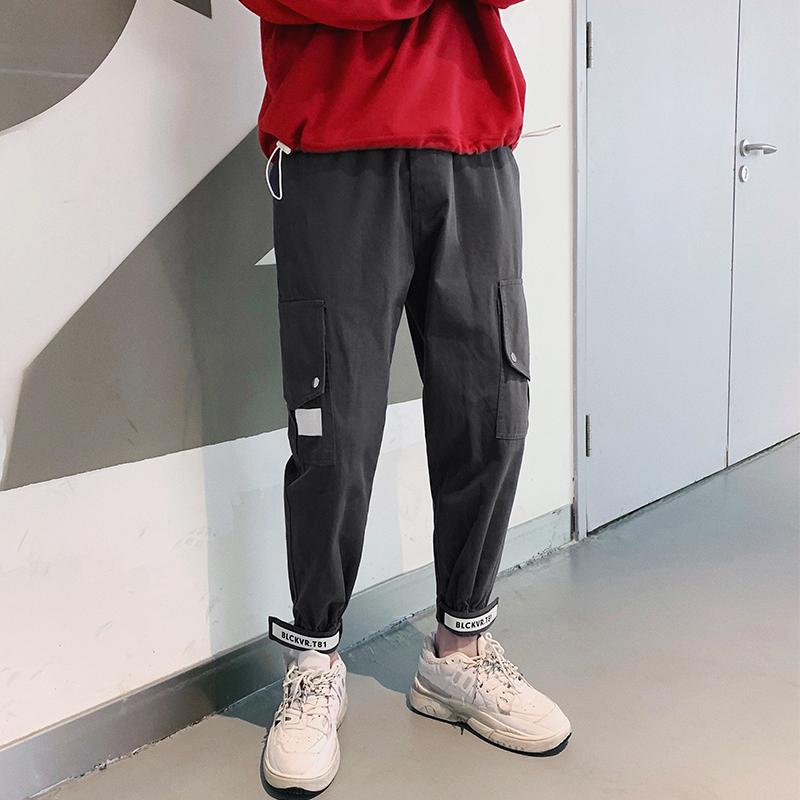 2019新款春装男士韩版港风工装裤休闲裤宽松XZ105C-19K02-P58