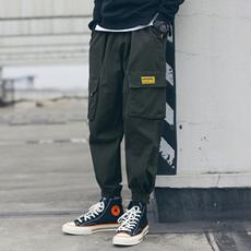 【控价108】春装新款日系工装裤男束脚九分裤休闲裤 A327-k01-P75