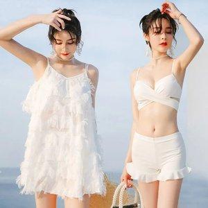 新款超仙泳衣女三件套韩版性感分体比基尼