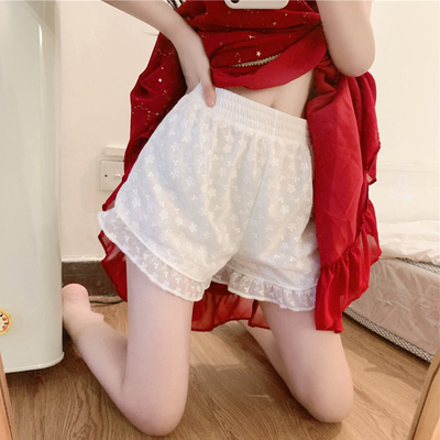 taobao agent White safety pants women's summer thin section can be worn outside jk leggings anti-empty loose lace shorts children spring and autumn