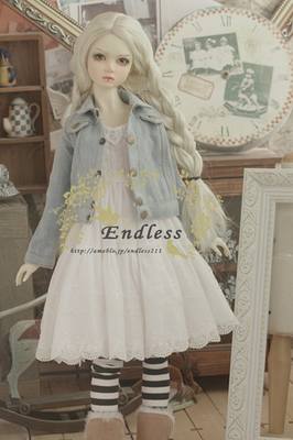 taobao agent 【endless】 bjd/sd denim jacket baby clothes suit dress old dress anime clothing
