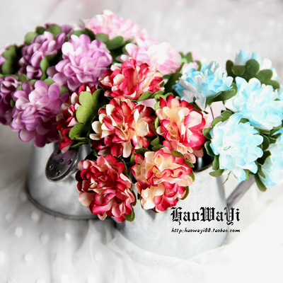 taobao agent Mini artificial flowers, doll bouquets, gradient peony, diy accessories, 6 yuan a bunch(6 flowers)