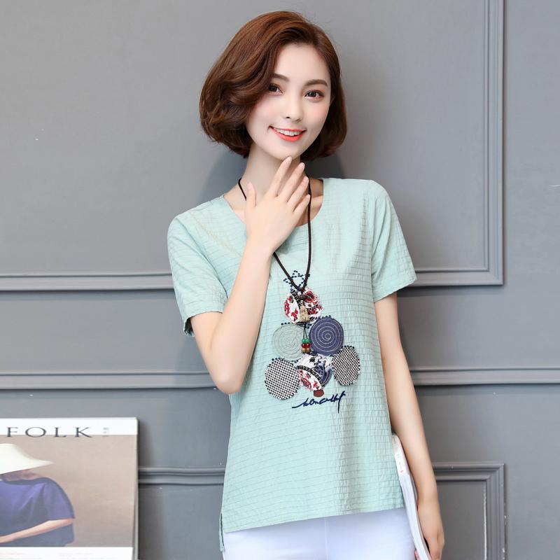 (实拍)短袖T恤女2018新款夏装纯棉宽松上衣韩版百搭时尚小清新