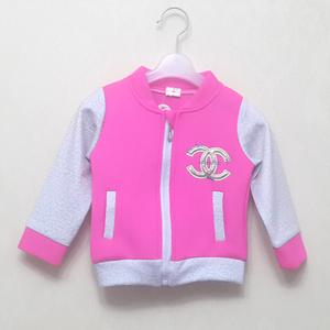 1252宝宝春秋季防风小风衣女童韩版外套女童棒球服上衣婴幼儿童装
