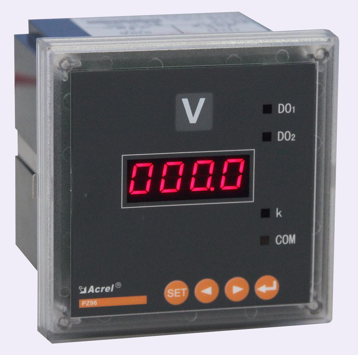 安科瑞厂家直销单相电压表PZ80-AV/KC带RS485通讯 带开关量