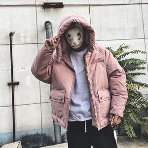 Mùa đông Nhật Bản xu hướng retro Châu Âu và Mỹ thường đội mũ trùm đầu bông men dày hơn vài Harajuku phong cách loose ấm áo khoác
