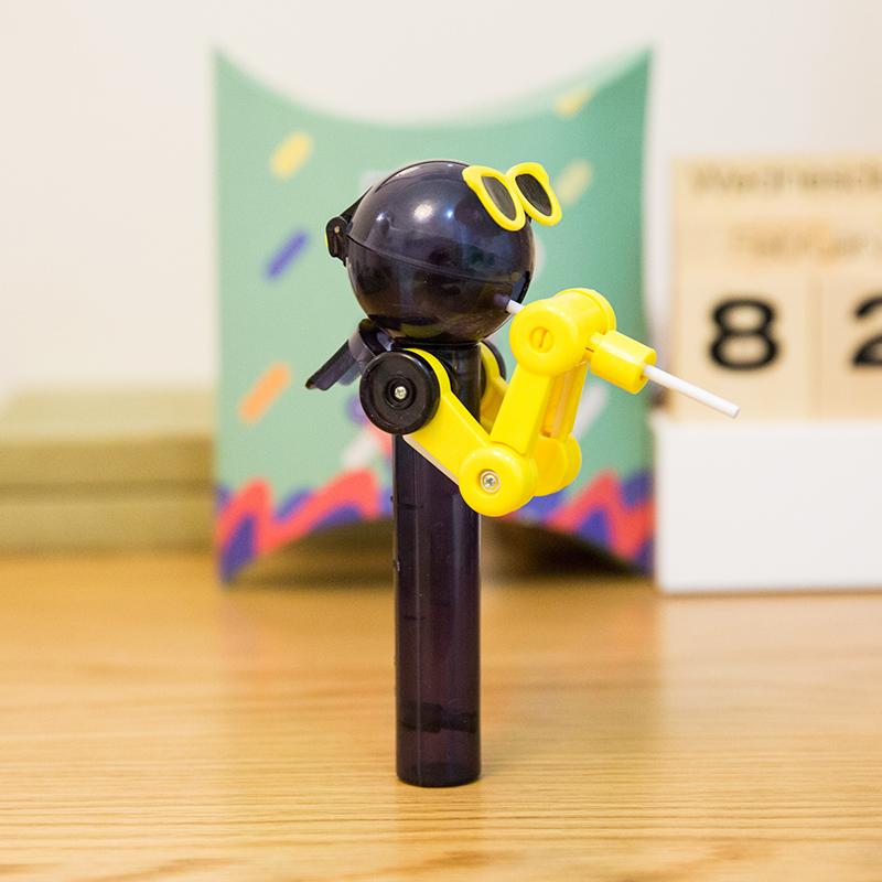 Lollipop nhựa đồ chơi đường máy đồ chơi khác đường sáng tạo người đàn ông, máy tạo tác để ăn 哄 神 tạo tác Tangren phiên bản