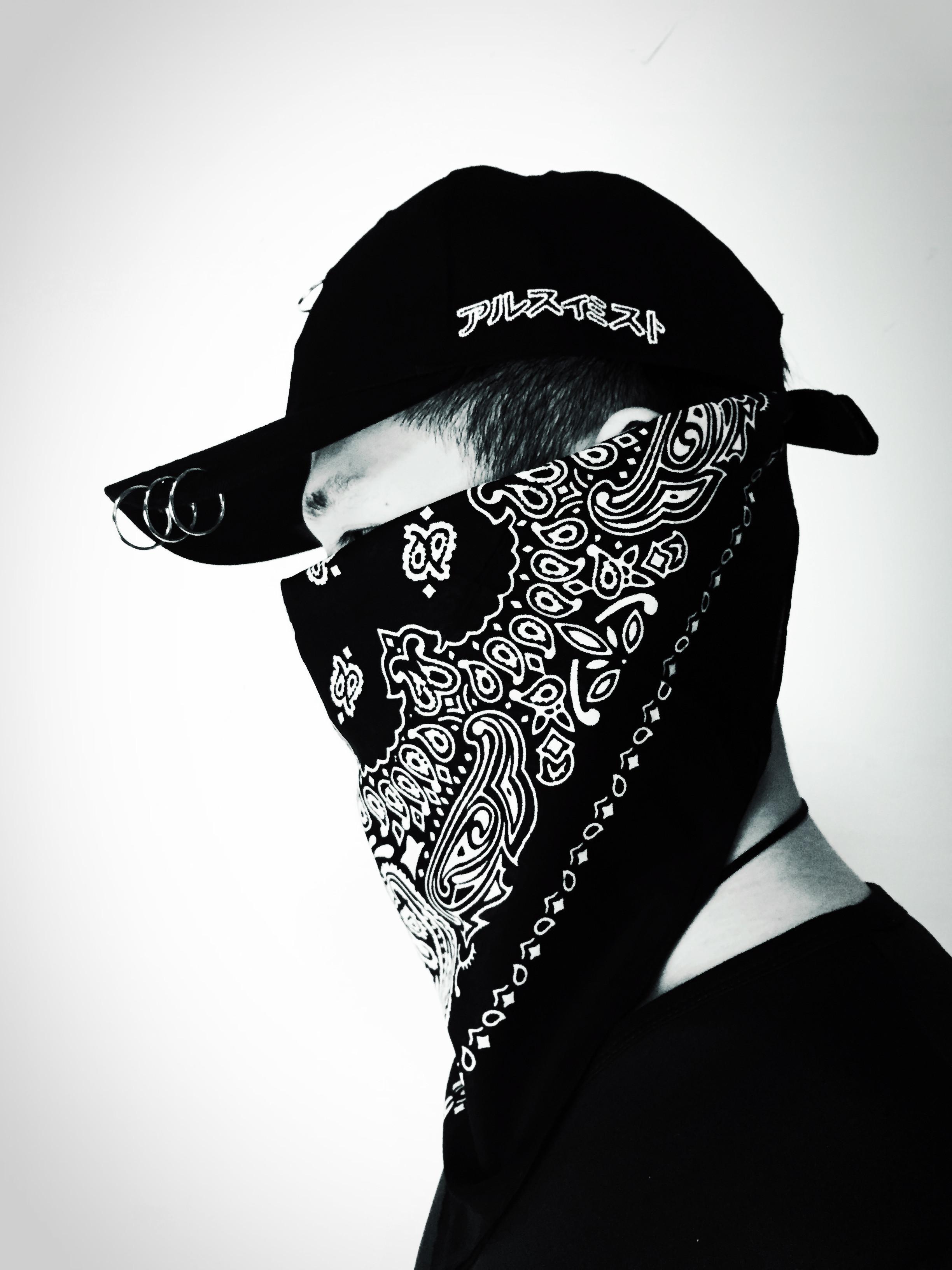 Bờ Biển phía tây cổ điển điều hoa lớn hip hop vuông hip-hop ngoài trời khăn trùm đầu nút tai nam giới và phụ nữ hiển thị mặc khăn vuông