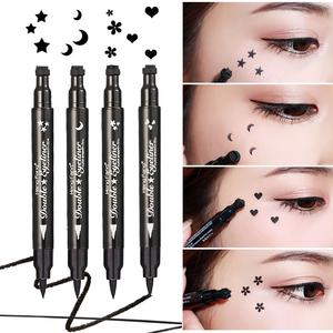 Đúp head seal bút kẻ mắt bút sao trăng tình yêu peach flower tattoo không thấm nước không nở bút kẻ mắt bên trong bút màu đen