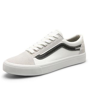 9042白黑秋季男士低帮板鞋透气潮鞋韩版潮流男鞋子百搭帆布鞋