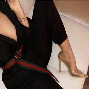 歐洲站明星款歐美款超高跟性感透明尖頭單鞋  128-26 有40碼