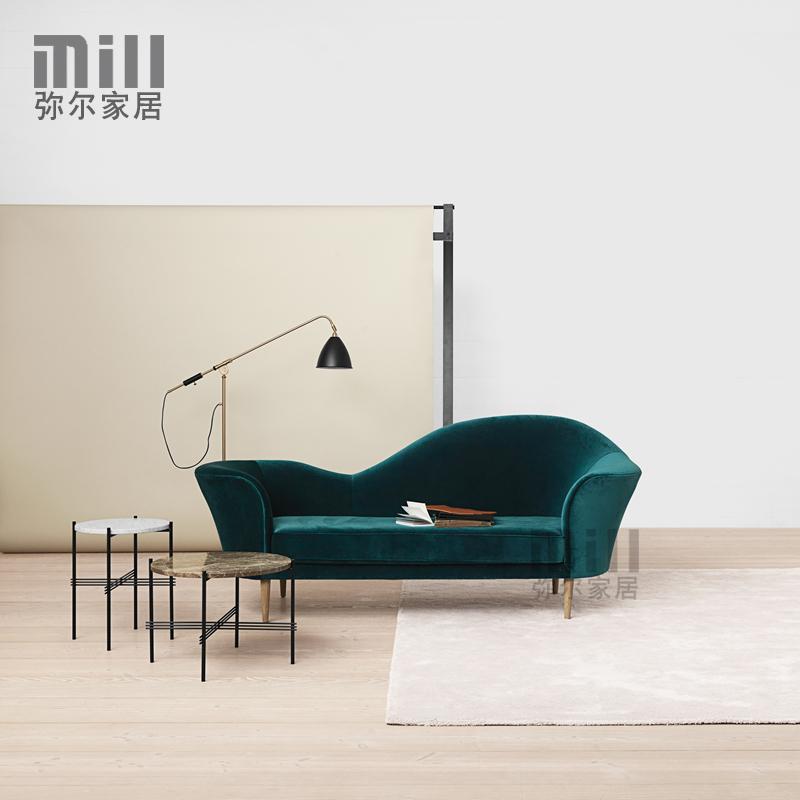 Đan mạch thiết kế nội thất Bắc Âu thời trang đơn giản nhung đàn piano sofa Bắc Âu cổ điển tùy chỉnh sofa hình