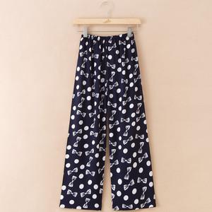 Pajama quần nữ phần mỏng cotton lụa trung niên cộng với phân bón để tăng ngủ quần cotton nhân tạo đồ ngủ có thể được đeo bên ngoài nhà quần