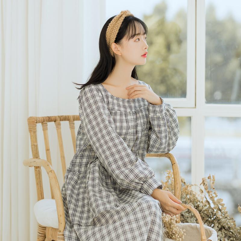 【6279#】棉麻连衣裙女夏2018新款 文艺宽松大码长裙子