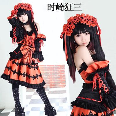 taobao agent Spot Date A Live Cos Costume Toki Kuang Three Palace Princess Dress Anime Halloween Neighbor Chapter Spirit Wear