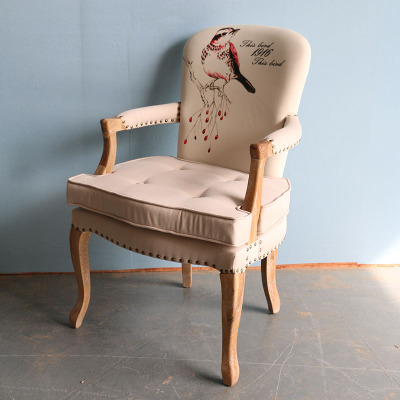 法式家具 欧式书桌椅简约书桌椅 实木电脑书房椅