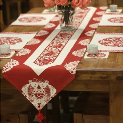 中国风中式岁末送节日套装节日家居布艺桌布桌