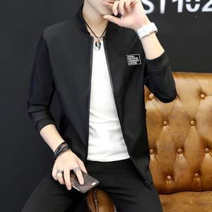 2017秋季新款男士夹克薄款韩版帅气潮男青年休闲外套学生夹克
