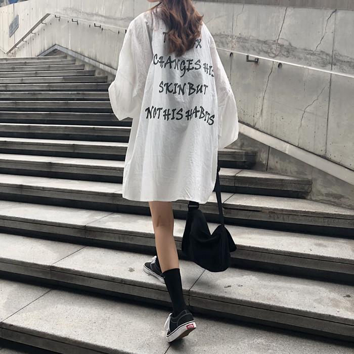 实拍实价~复古港味慵懒风休闲防晒衣宽松长袖衬衫女 已检测 9218#