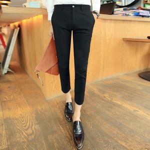 LES đẹp trai T trung tính mã nhỏ thủy triều phù hợp với nam giới quần ngắn nhỏ tám quần quần Mỏng 8 điểm S mã XS chân nhỏ quần