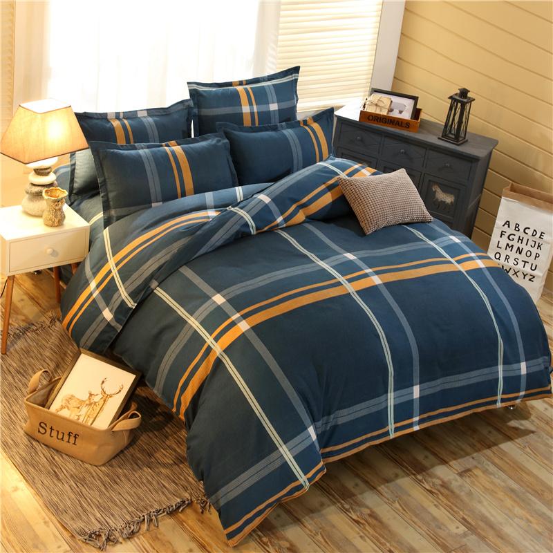 全棉加厚磨毛四件套1.8m2.0米床上用品1.5床单被套秋冬床上四件套