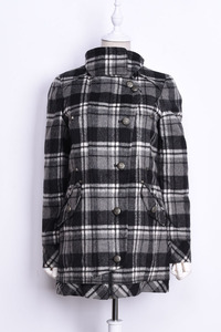 2018 mới mùa thu và mùa đông phụ nữ Hàn Quốc phiên bản của thời trang dài tay đơn ngực kẻ sọc áo len thủy triều KF211