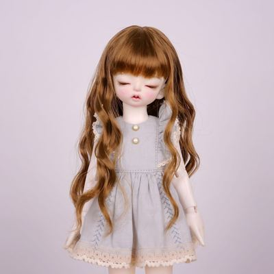 taobao agent 【Kaka Planet】6 points 4 points 3 points giant baby BJD baby wig, imitating mohair soft silk small wavy long hair