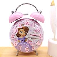 Милый будильник студент с девочкой детские для Тихая спальня прикроватный женский мультфильм говорящий светящийся