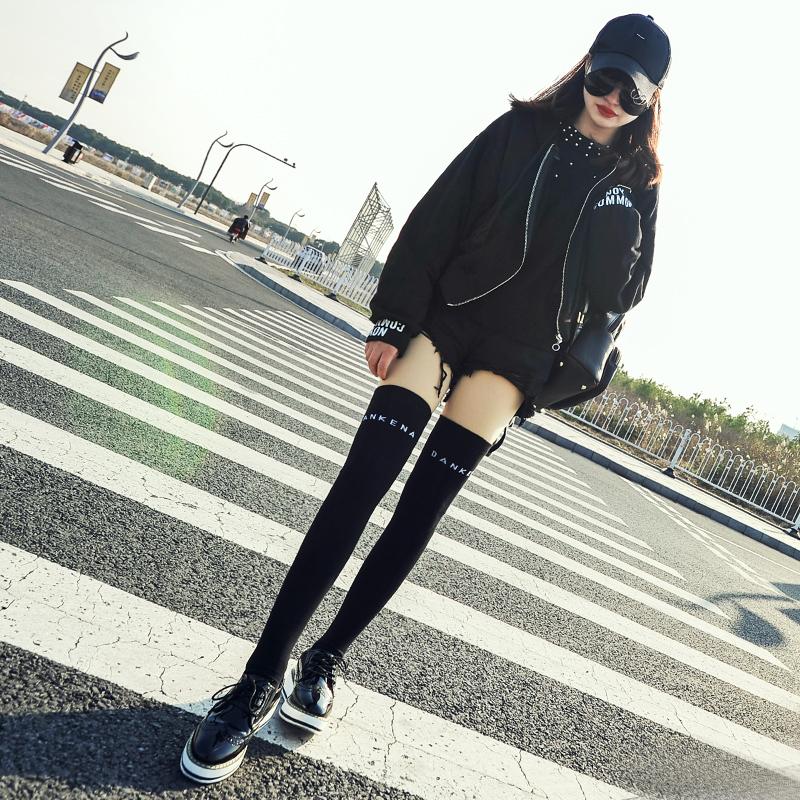 Vớ dài nữ trên đầu gối mùa xuân và mùa hè Hàn Quốc cao đẳng gió stovepipe vớ bông áo khoác dễ thương vớ dài nữ Hàn Quốc phiên bản của đầu gối vớ phụ nữ