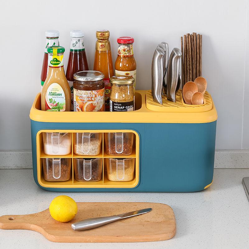 多功能调料盒置物架刀架筷子架调味品置物架厨房调料储物收纳神器
