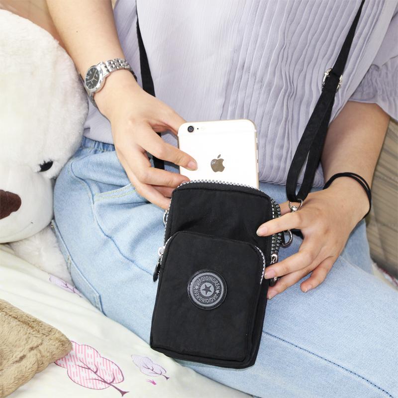 2018 mới của Hàn Quốc túi điện thoại di động nữ túi Messenger túi điện thoại di động treo cổ cổ tay purse mini bag vertical