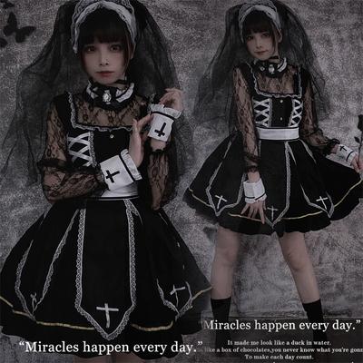 taobao agent 2021 new dark dress dress Lolita Halloween costume cos Gothic dress Lolita